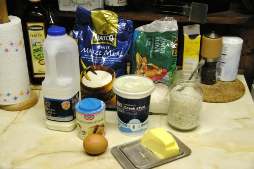 Ingredients set out on the counter